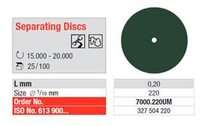 Disco Separador - No. 7000.220UM edenta