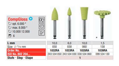 Pulidores para Composites CompGlossRA amarillo edenta
